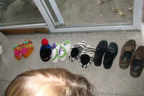 slippers-lined-up