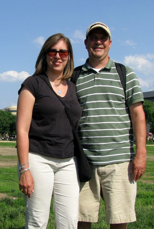 couple in front of capitol