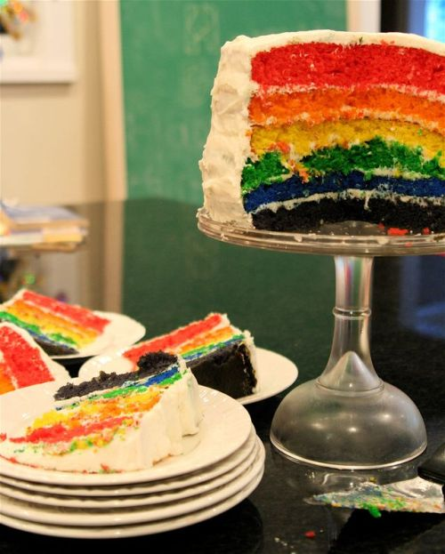meg's rainbow cake photo