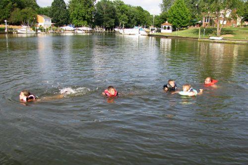 a all kids swimming again