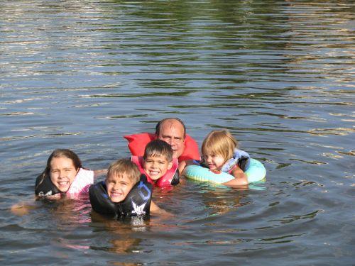 a all kids swimming