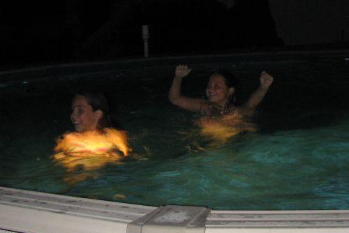 bday night swimming shot