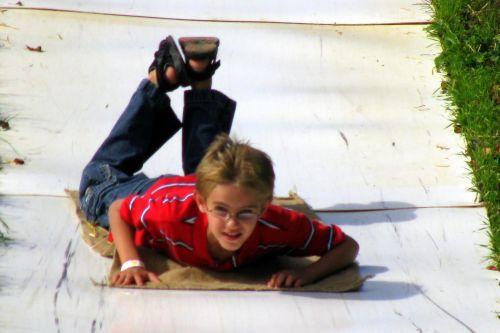 brad on slide